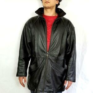100% Leather Car Coat